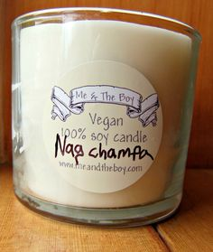 nag champa 4oz hand poured candle  unisex  gift  by Meandtheboy, $15.00