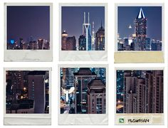 Shanghai Polaroid Cityscape on Behance