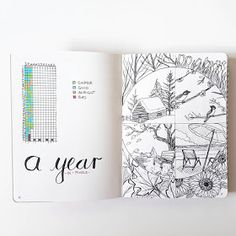 (Or, Bujo with a Year in Pixels!) This is a gallery of marvellous Year in Pixels spreads  The Year in Pixels was brought to life b...