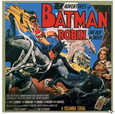 May 26th (1949): Batman and Robin, Spencer Gordon Bennet (dir).    The caped crusaders take on black-hooded mastermind, The Wizard.