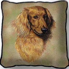 Brown Lh Dachs Zippered Pillo (Pillow)