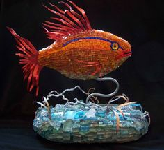 georgeous goldfish mosaic