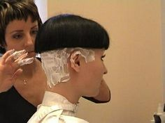 """Freshly shaven bowlcut....nothing says """"Sissy"""" like a smooth shaved nape"""