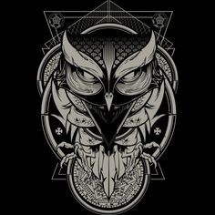 Alchemy Owl is a T Shirt designed by Hydro74 to illustrate your life and is available at Design By Humans