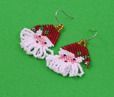 Your place to buy and sell all things handmade Crochet Earrings, Tribal Style, Boho Style, Tribal Fashion, Boho Fashion, Peyote Stitch, Cross Stitch, Beading Projects, Punto De Cruz