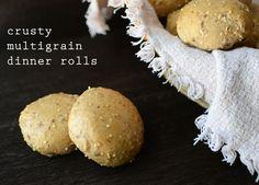 Crusty MultiGrain Dinner Rolls I TheWellFlouredKitchen.com