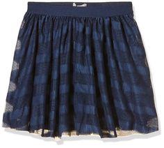 NAME IT Girl's Skirt -  Blue - 158 cm