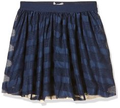 NAME IT Girl's Skirt -  Blue - 158 cm