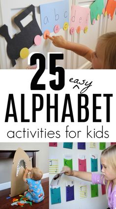 25 Simple Alphabet Activities for Toddlers and Preschoolers