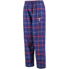 Texas Rangers Concepts Sport Ultimate Plaid Flannel Pants - Royal/Red