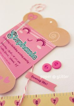 Printable Embroidery Card Invitation by PAPER*GLITTER