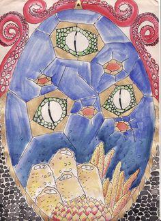 El final del mar / Lapiz, acuarella y microfibra / Pencil, watercolor and microfiber Baby Zombie, Collage Illustration, Illustrations, Collage