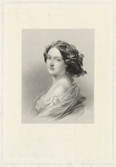 Engraved by William Henry Mote after John Hayter - Lady Clementina Augusta Wellington Villiers