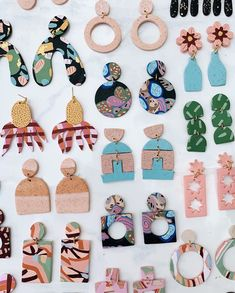 Polymer Clay Crafts, Handmade Polymer Clay, Polymer Clay Jewelry, Diy Clay Earrings, Earrings Handmade, Biscuit, Handmade Jewelry Designs, Clay Creations, Craft Gifts