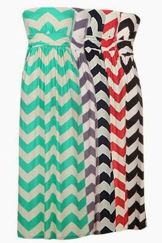 Strapless Maxi Dresses For Summer, could totally dress these up with a jean jacket, or a white over jacket!