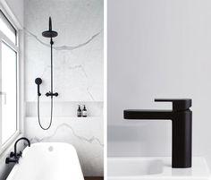 Inspiration: Black tapware in the bathroom