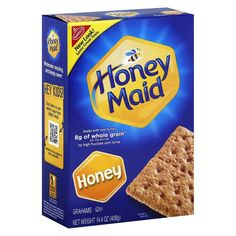 These all natural Nabisco Honey Maid Honey Graham Crackers work well with your favorite toppings, or used in recipes. These thin crisps are also great for sensible snacking. Honey Maid Graham Crackers, Chocolate Graham Crackers, Dairy Free Treats, Dairy Free Recipes, Sans Lactose, Lactose Free, Gluten Free, Jelly Belly, Graham Flour