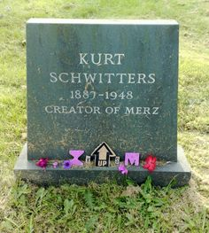 I'm not one to go to churchyards in search of dead Artist's, but I was in the lovely little village of Ambleside in the Lake District, Cumbria a few years ago and someone had mentioned Kurt Schwitters was buried there.