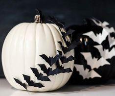 Batty Pumpkin Silhouettes