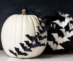 Batty Pumpkin Silhouettes - Thanks @BHG for sharing my pumpkins with your readers!!!