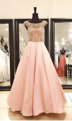 Real Photos Woman Prom Crystal Beaded Cap Sleeves Formal Long Evening Dress Gowns Party Dress from Pretty Lady Strapless Homecoming Dresses, Prom Dresses Long Pink, Senior Prom Dresses, Prom Dresses With Pockets, Elegant Prom Dresses, Beaded Prom Dress, Prom Dresses 2017, Plus Size Prom Dresses, Party Dresses