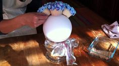 Small tier as his/her cake and a few of these for the guests.. ??? So pretty and a neat idea! Hydrangea Cupcake Bouquet