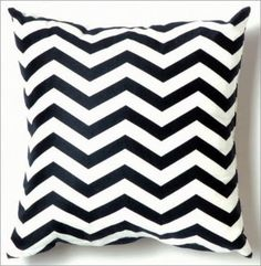 chevron/zig-zag accent pillows and curtains.