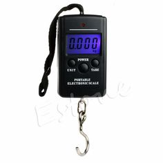 E74  40kg 88Lb 1410oz Digital Handy Scales Luggage Fishing #Affiliate