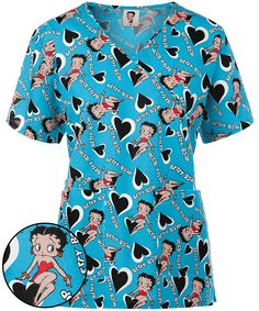 b0157972af5 247 Best Betty Boop images in 2019 | Betty boop, Scrub tops, Bags