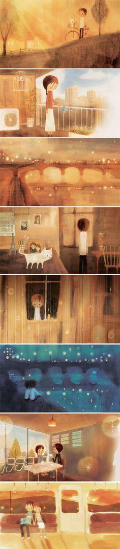 吉田尚令  Hisanori Yoshida - NHK「みんなのうた」♪ゆびきり(つじあやの)のためのイラスト  (2005.10・11月放送)