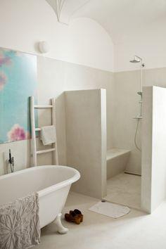 Idee van mortex in badkamer kan in alle kleuren,..PLAATSER? CHAJUWAN BVBA. Ook tadelakt betonciree, flowfloor