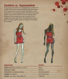 Zombies vs. supermodels. Now we'll be safe in the apocalypse!