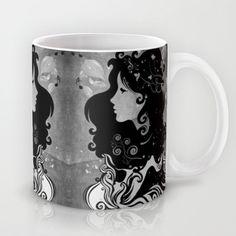 spring rain (B&W) Mug by Viviana González - $15.00