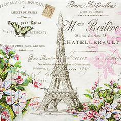 ペーパーナプキンppd25:(5枚)La Tour Eiffel-PP14(25)