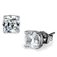Vintage  2.25CT Round Cut Russian Lab Simulated Diamond Solitaire Screw Back Platinum Stud Earrings Birthday Graduation Wedding Anniversary