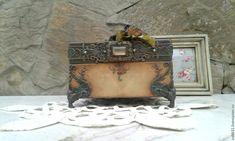 Купить Винтажная шкатулка - шкатулка ручной работы, шкатулка для украшений, подарок, короб для хранения
