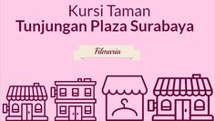 Kursi taman Tunjungan Plaza Surabaya