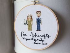 custom made embroidery hoop   via bride and groom chair signs http://emmalinebride.com/decor/bride-and-groom-chairs/