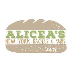 Fun sandwich logo designed for Alicea's NY Bagels + Subs