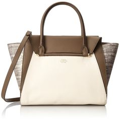 Vince Camuto Addy Satchel Shoulder Bag ($136) ❤ liked on Polyvore featuring bags, handbags, shoulder bags, white shoulder bag, shoulder handbags, man bag, hand bags and white shoulder handbags