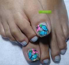 New Nail Art Design, Magic Nails, Toe Nail Designs, Toe Nails, Turquoise, Pedicures, Triangles, Crochet Fruit, Toenails Painted