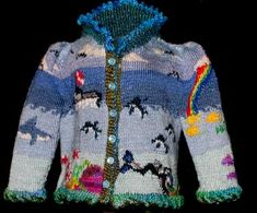 Bugknits-Scuba.  Wanna guess how big this sweater is?  Guess again!
