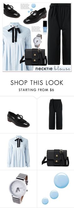 """""""Fall Trend: Necktie Blouse 2"""" by paculi ❤ liked on Polyvore featuring VIVETTA, Topshop and JINsoon"""