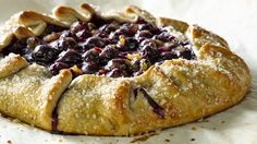 Orange Cardamom Blueberry Crostata: There's no need for a pie pan with this easy-to-make free form blueberry pastry dessert.