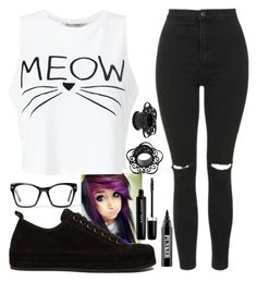 """Meow"" by ur-local-emo ❤ liked on Polyvore featuring Miss Selfridge, Ann Demeulemeester, Topshop, Ardency Inn, Marc Jacobs and Spitfire"