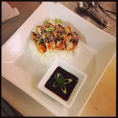 Chicken yakitori. Culinary school.