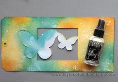 Tutorial by Anna-Karin on making this Awesome Butterfly Window Card for the Monday Challenge at Simon Says Stamp. Make The Cut.  August 2013