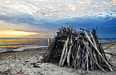 Tuscany pictures: winter sunset on Alberese beach