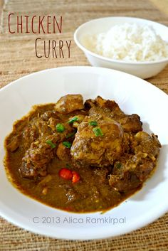 authentic guyanese chicken curry! my fave. I'm always heave handed with the scotch bonnet pepper. LOVEEE.