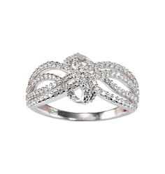 Sterling Silver Braided Ring with CZ accents  Intricate design. ($80) Half price from 5/31-6/11  $40!  Click on pic to order